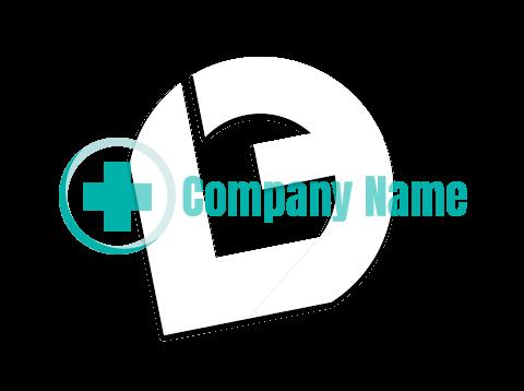 Circular medical cross logo