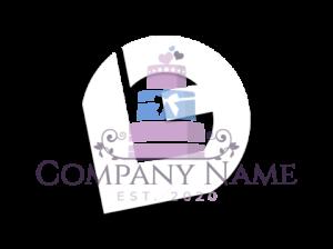 Weddings and anniversaires cake baking logo