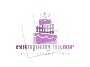 Cake with decorations for event catering logo